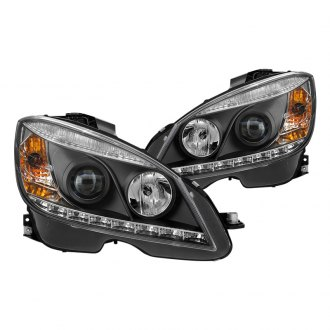 Spyder® - Black Projector Headlights with Parking LEDs