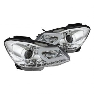 Spyder® - Chrome DRL Bar Projector Headlights with LED Turn Signal