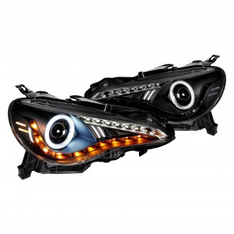 Spyder® - Black Halo Projector Headlights with LED DRL and Turn Signal