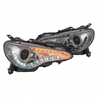 Spyder® - Chrome/Smoke Halo Projector Headlights with LED DRL and Turn Signal
