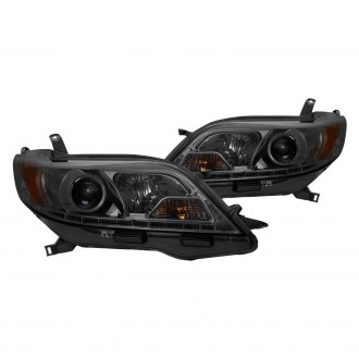 Spyder® - Chrome/Smoke Projector Headlights with LED DRL
