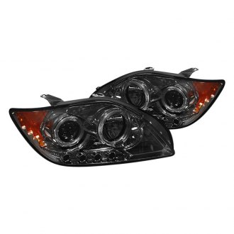 Spyder® - Chrome/Smoke Halo Projector Headlights with Parking LEDs