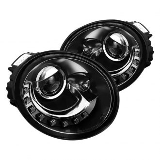 Spyder Black Projector Headlights With Parking Leds