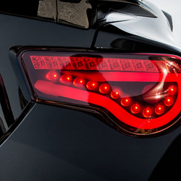 Spyder projector headlights led tail lights carid spyder light bar style led tail lights on scion fr s sciox Gallery
