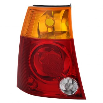 Spyder® - Driver Side Chrome Red/Amber Factory Style Tail Light