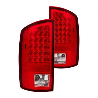 Spyder® - Chrome/Red LED Tail Lights Lens and Housing