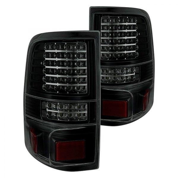 led g2 bsm ford f 150 styleside 2005 black smoke led tail lights. Black Bedroom Furniture Sets. Home Design Ideas