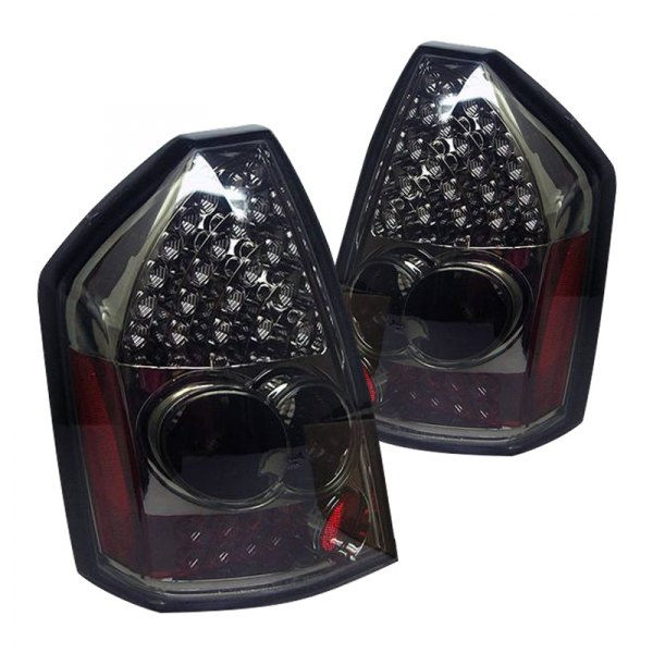 Chrysler 300 2006 Black Led Tail Lights: Spyder® ALT-YD-C305-LED-SM