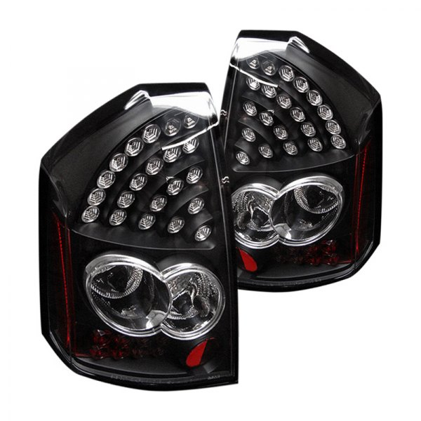 Chrysler 300 2006 Black Led Tail Lights: Chrysler 300 2005-2007 Black LED Tail Lights