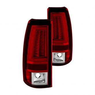 Spyder® - Chrome/Red Fiber Optic LED Tail Lights