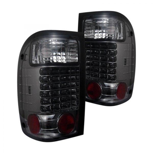 spyder ford ranger 2001 chrome smoke led tail lights carid com