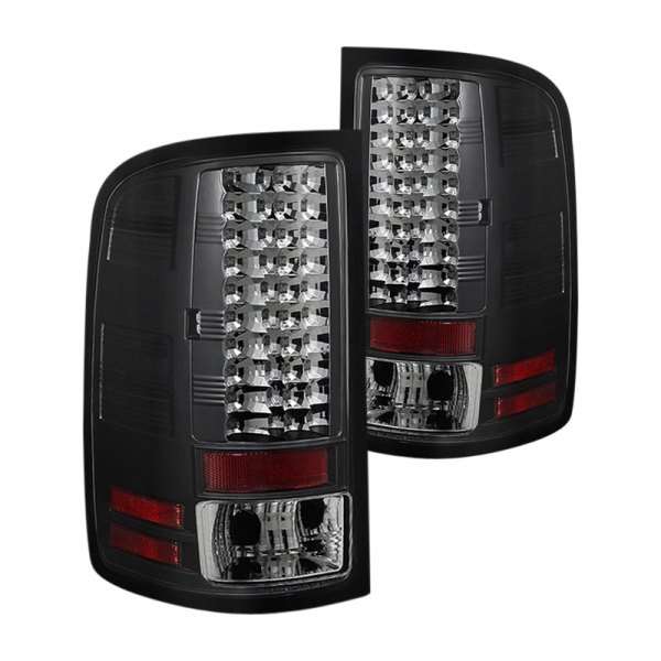 spyder gmc sierra 2011 black led tail lights. Black Bedroom Furniture Sets. Home Design Ideas