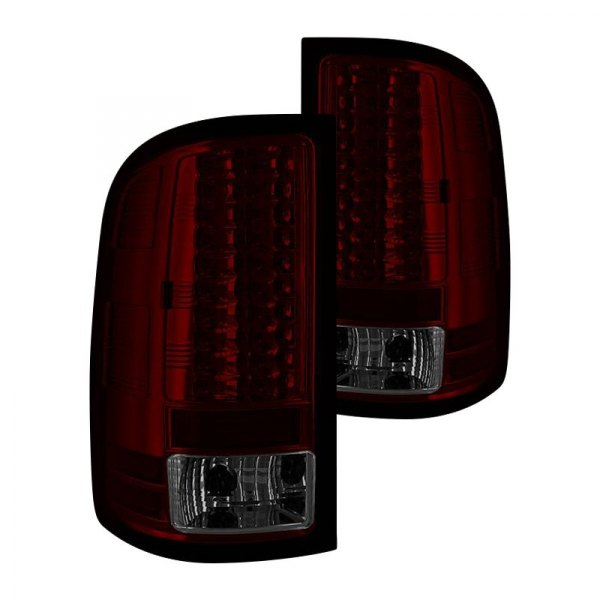 spyder gmc sierra 2010 chrome red smoke led tail lights. Black Bedroom Furniture Sets. Home Design Ideas