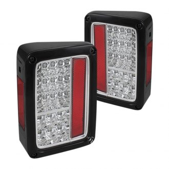 Spyder® - Chrome/Red LED Tail Lights with Chrome Insert