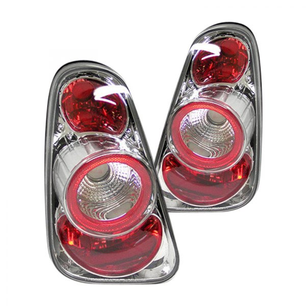 Spyder® - Chrome/Red Euro Tail Lights
