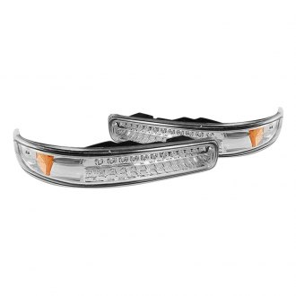 Spyder® - Chrome LED Turn Signal/Parking Lights with Amber Light