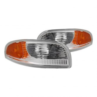 Spyder® - Chrome Amber/Clear Factory Style Turn Signal/Parking Lights