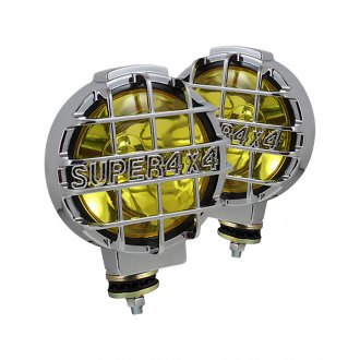 "Spyder® - 6.5"" Black/Yellow Euro Fog Lights"