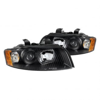 Spyder® - Black Euro Projector Headlights with Amber Reflectors