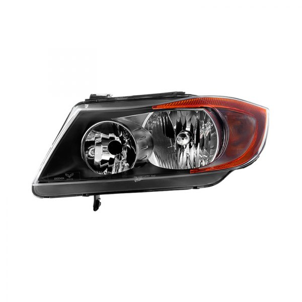 Spyder® - Driver Side Black/Chrome Factory Style Headlight