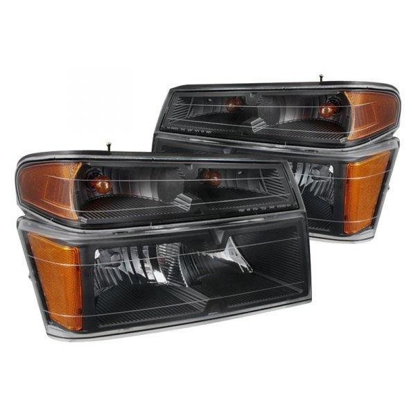 Spyder® - Black Factory Style Headlights with Bumper Lights
