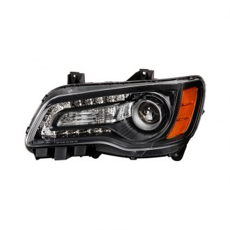 Spyder® - Black Factory Style Projector Headlight with LED DRL