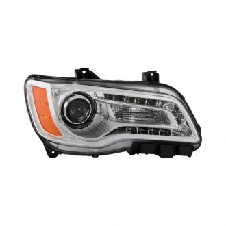 Spyder® - Passenger Side Chrome Factory Style Projector Headlight with LED DRL