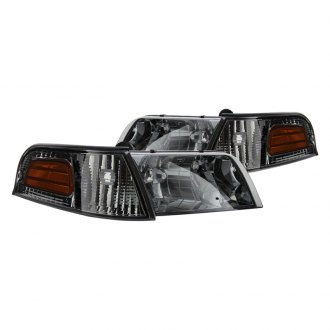 Spyder® - Chrome/Smoke Euro Headlights with Corner Lights