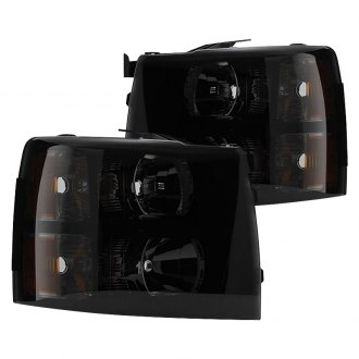 Spyder® - Driver and Passenger Side Black/Smoke Factory Style Headlights