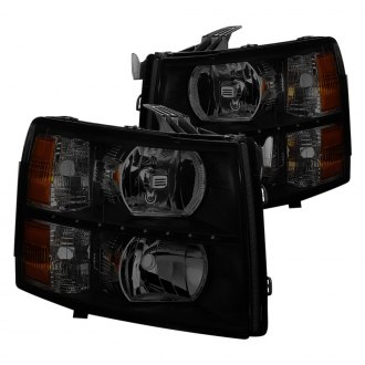 Spyder® - Black/Smoke Euro Headlights with LED DRL