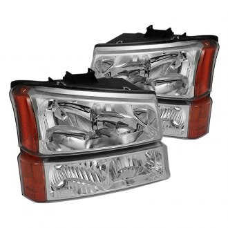 Spyder® - Chrome Euro Headlights with Bumper Lights