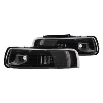 Spyder® - Black/Smoke Euro Headlights with Bumper Lights