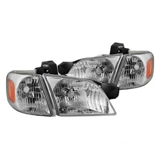 Spyder® - Chrome Factory Style Headlights with Corner Lights