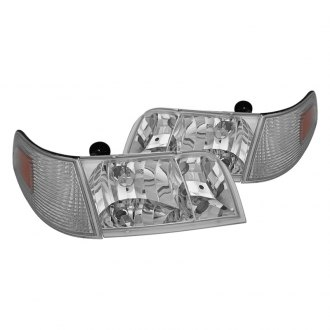 Spyder® - Chrome OEM Style Headlights with Corner Lights