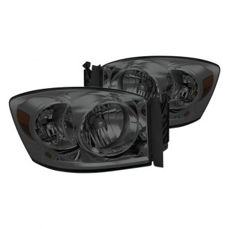 Spyder® - Chrome/Smoke Euro Headlights with Amber Reflectors