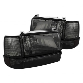 Spyder® - Chrome/Smoke Euro Headlights with Corner Bumper Lights and Amber Reflectors