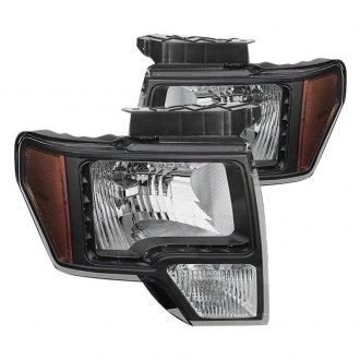 Spyder® - Black Euro LED Headlights with Amber Reflectors