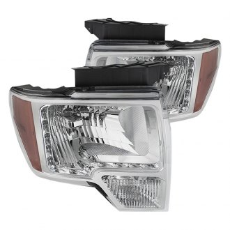 Spyder® - Chrome Euro LED Headlights with Amber Reflectors