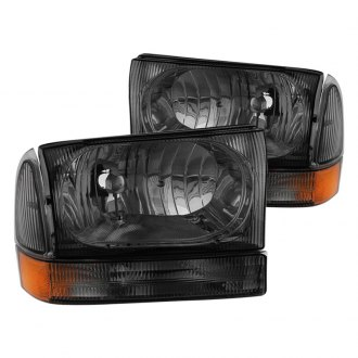 Spyder® - Chrome/Smoke Euro Headlights with Bumper Lights