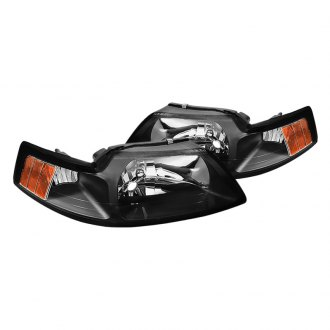 Spyder® - Black OEM Style Headlights with Amber Reflectors