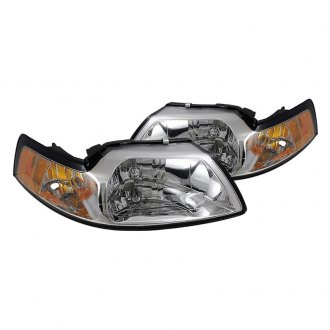 Spyder® - Chrome OEM Style Headlights with Amber Reflectors