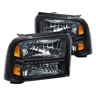 Spyder® - Black LED Euro Headlights