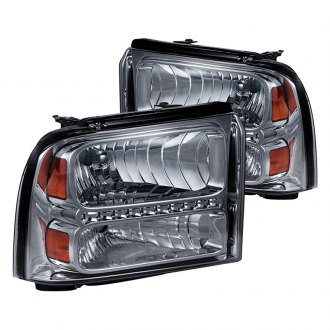 Spyder® - Chrome/Smoke LED Euro Headlights