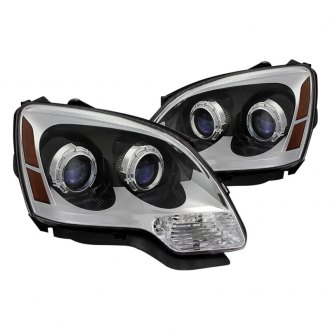 Spyder® - Chrome Euro Projector Headlights with Amber Reflectors