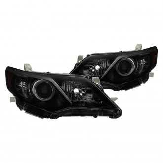Spyder® - Driver and Passenger Side Black/Smoke Factory Style Projector Headlights