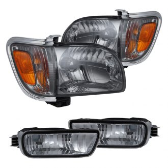 Spyder® - Chrome/Smoke Euro Headlights with Amber Corner and Side Marker Lights
