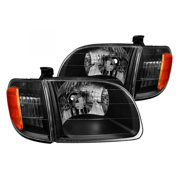 Spyder Toyota Tundra 2001 Driver And Passenger Side Black Factory Style Headlights