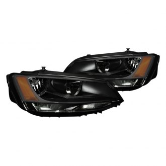 Spyder® - Black/Smoke Euro Headlights with Amber Reflectors