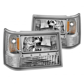 Spyder® - Chrome Euro LED Headlights