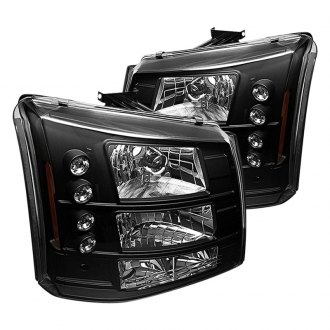 Spyder® - Black Conversion Euro Headlights with LED DRL